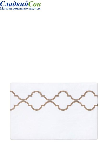 Пододеяльник на пуговицах ROMA BOVI 200x220 100% хлопок перкаль белый/золотой - фото 100497