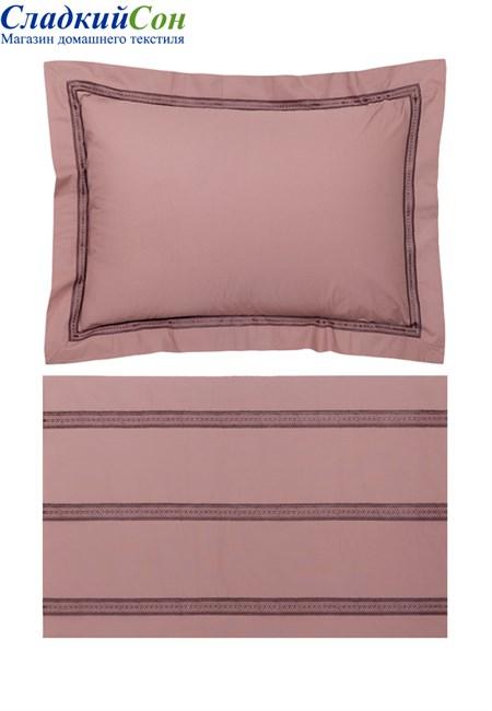 Комплект постельного белья АКЦЕНТ Bovi-05965 100% хлопок перкаль карминово-розовый - фото 100582