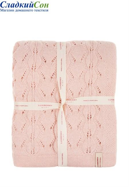 Плед детский Imperio 77 Luxberry 100х150 Шерсть 80% Полиамид 20% розовый - фото 100769