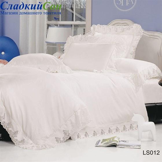 Комплект постельного белья Kingsilk LS-12-2-K 2-спальный кремовый - фото 26325