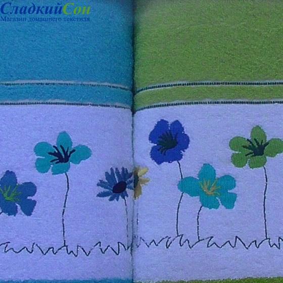 Набор полотенец Korona Style Полянка салатовый - фото 40265