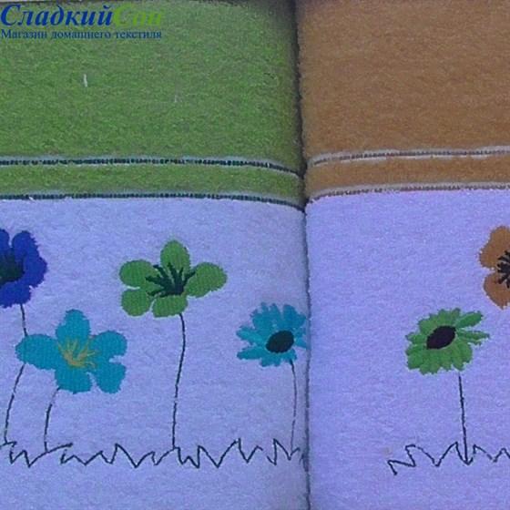 Набор полотенец Korona Style Полянка оранжевый - фото 40267