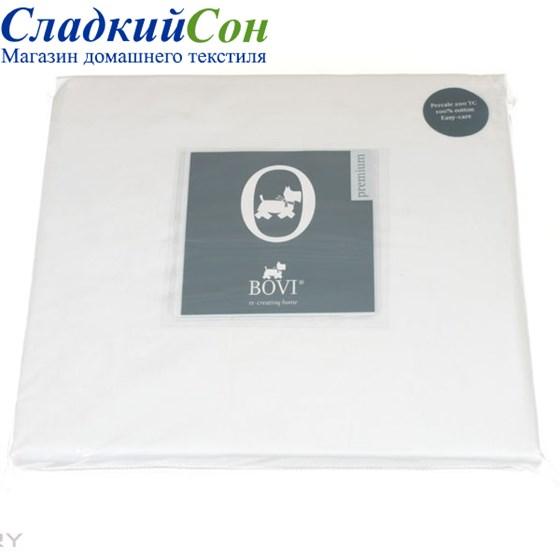 Простыня на резинке Luxberry перкаль 90*200*30 белая - фото 41075