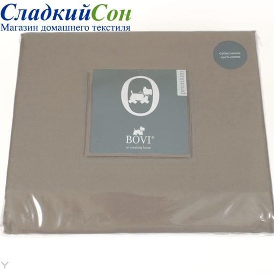 Простыня на резинке Luxberry сатин 160*200*30 капучино - фото 41088