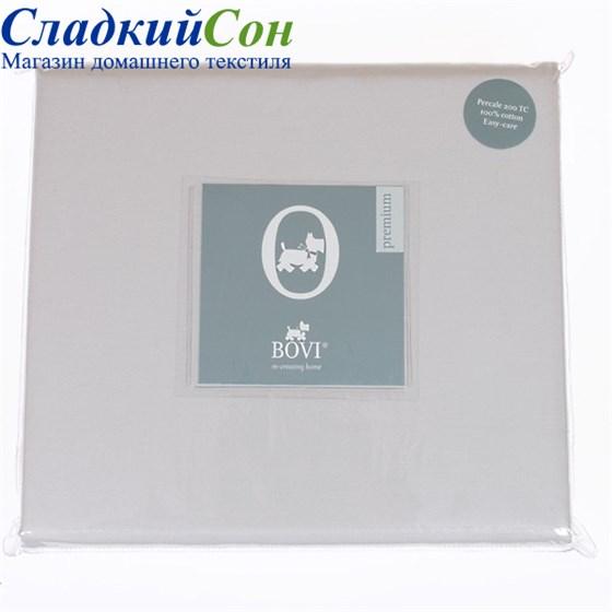 Простыня на резинке Luxberry сатин 160*200*30 серая жемчуг - фото 41092