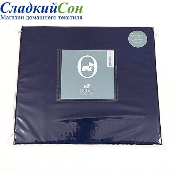Простыня на резинке Luxberry сатин 160*200*30 синяя - фото 41094