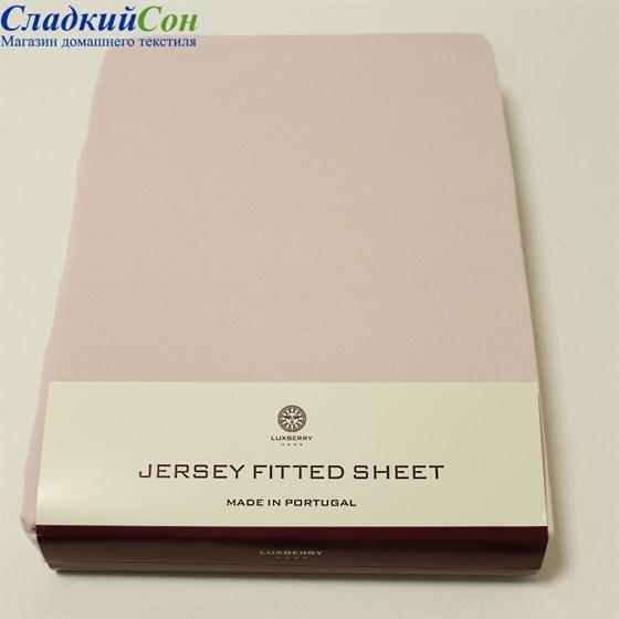 Простыня на резинке Luxberry трикотаж 180*200*30 персиковая - фото 41130
