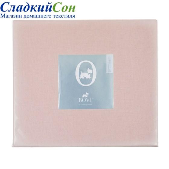 Простыня прямая Luxberry перкаль 240*280 розово-жемчужная - фото 41165