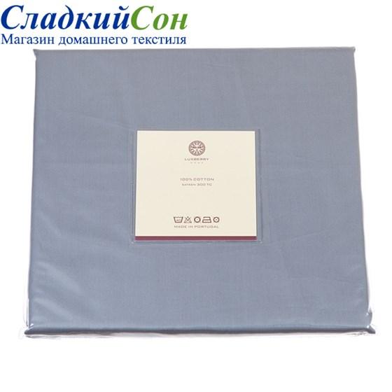 Простыня прямая Luxberry сатин 220*240 стальная синяя - фото 41182