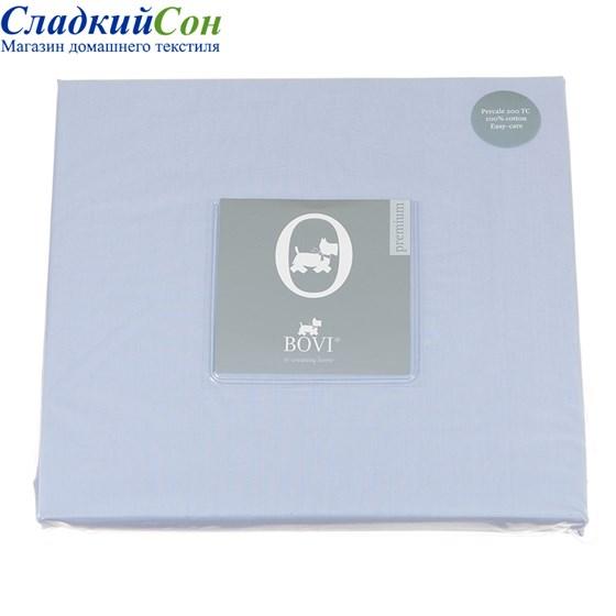 Простыня на резинке Luxberry перкаль 90*200*30 голубая - фото 41224
