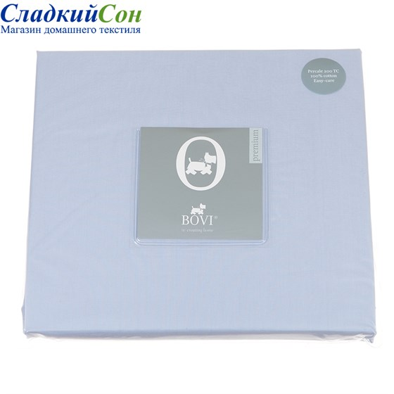 Простыня на резинке Luxberry перкаль 140*200*30 голубая - фото 41225