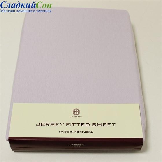 Простыня на резинке Luxberry трикотаж 180*200*30 лаванда - фото 41242