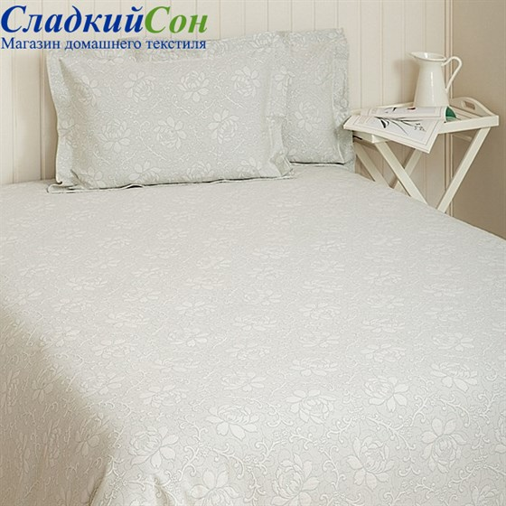 Покрывало Luxberry FLOWERS 200*220, цвет: голубая мята - фото 47532