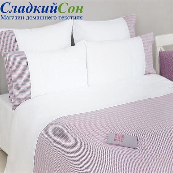 Пододеяльник Luxberry и наволочка 150*210+50*70, цвет: белый/серый/розовый/винный - фото 52565