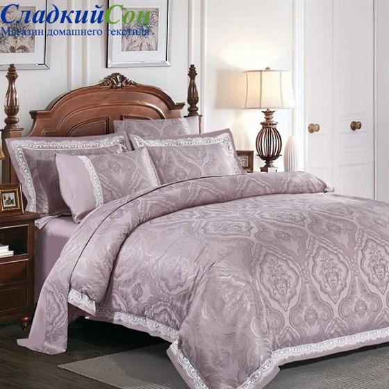 Комплект постельного белья Asabella 104-5 Семейный сиреневый - фото 57211