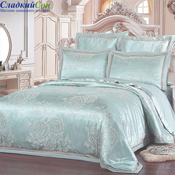 Комплект постельного белья Kingsilk SB-123-3 Евро мятный - фото 57570