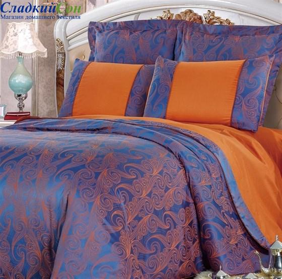Комплект постельного белья Kingsilk SB-118-3 Евро синий - фото 57600