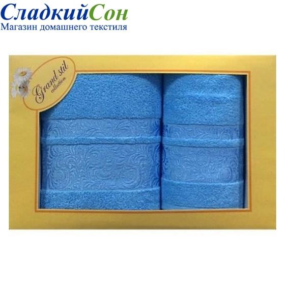 Набор полотенец Grand Stil Мидея голубой - фото 58770