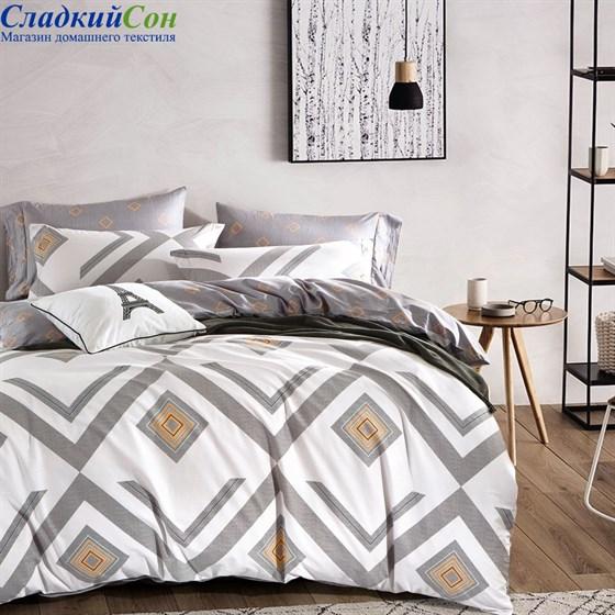 Комплект постельного белья Asabella 224-6 Евро кремовый - фото 59115