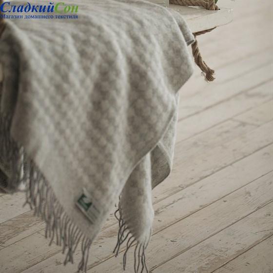 Плед Flaum Neuseeland Wolle Simon светло-серый - фото 61306