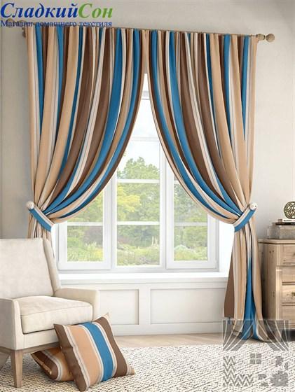 Комплект штор ТомДом Ален синий за 6 960 руб.