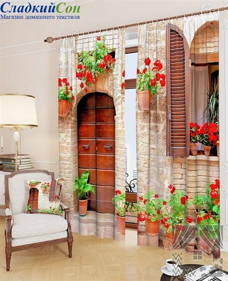 Комплект фотоштор ТомДом Итальянский дворик - фото 61498