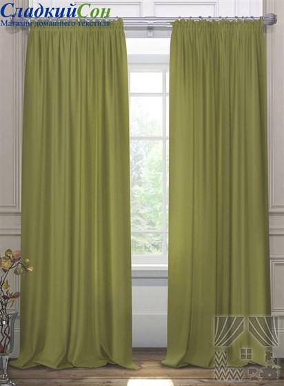 Комплект штор ТомДом Элести зеленый - фото 61599