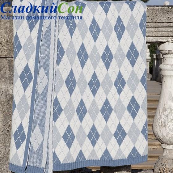 Плед Luxberry Imperio 252 150*200, цвет: синий/белый/серый - фото 61806