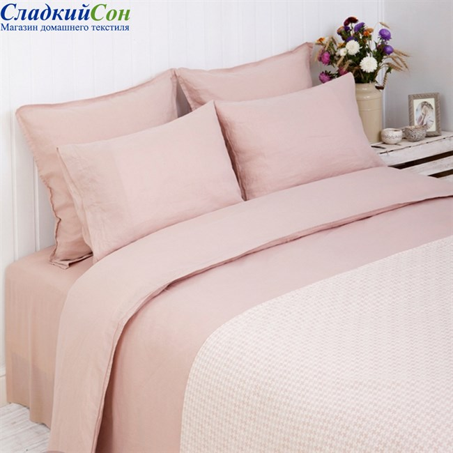 Наволочка Luxberry LINEN 50*70, цвет: розовый - фото 64049
