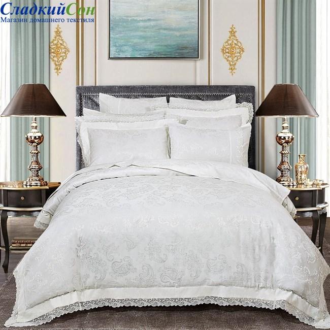 Комплект постельного белья Asabella 469-4 Евро белый - фото 71516