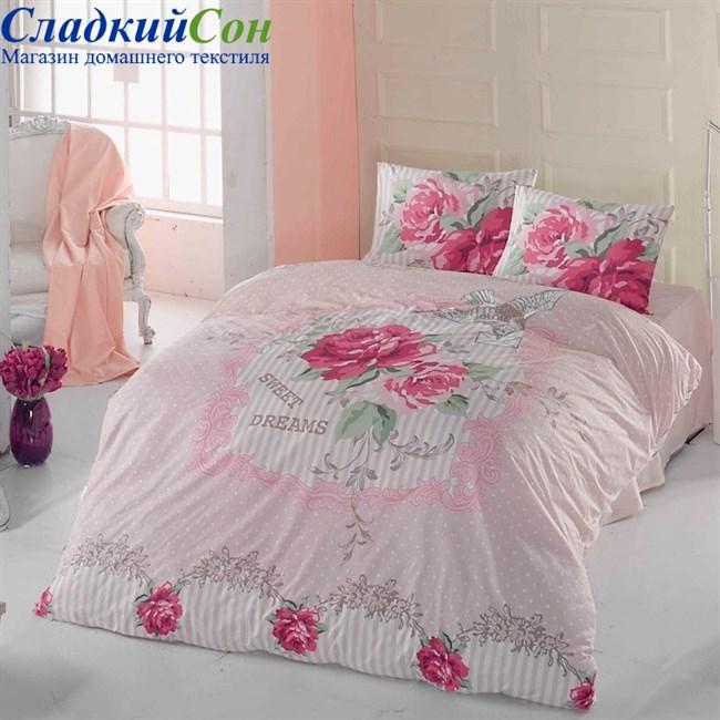 Комплект постельного белья Irina Home IH-02-1 Mia 1,5-спальный розовый - фото 73934