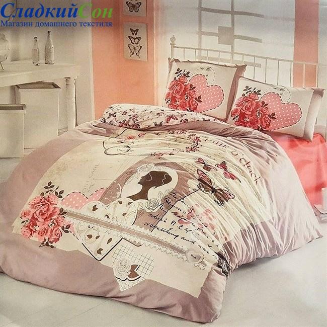 Комплект постельного белья Irina Home IH-05-1 Sura 1,5-спальный какао - фото 73946