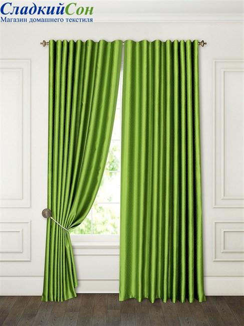 Комплект штор ТомДом Аклина зеленый - фото 76004