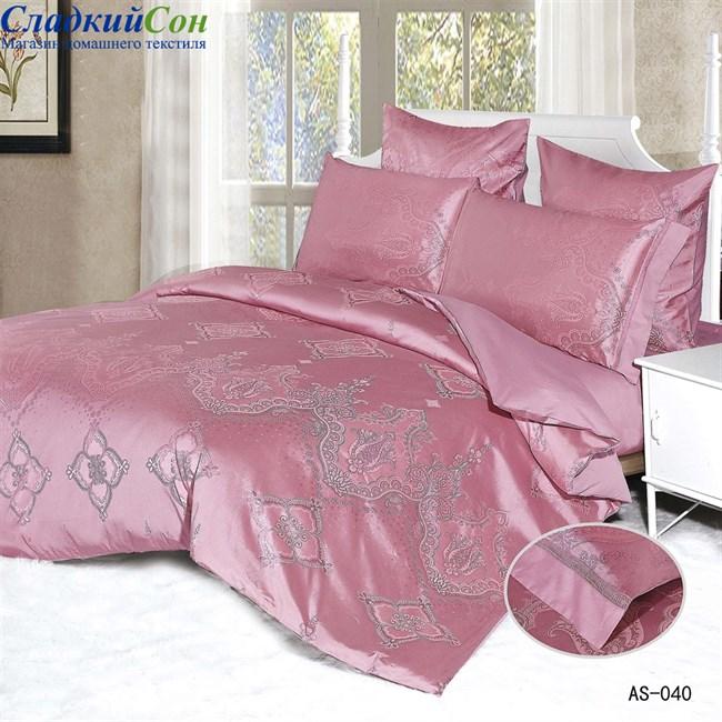 Комплект постельного белья Arlet AS-040-3 Евро розовый - фото 81352