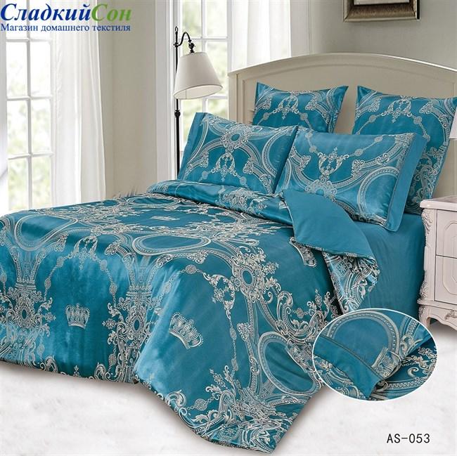 Комплект постельного белья Arlet AS-053-3 Евро синий - фото 81430