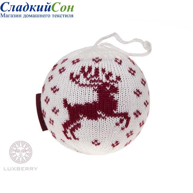 Декоративный шар Luxberry Олень белый - фото 82834