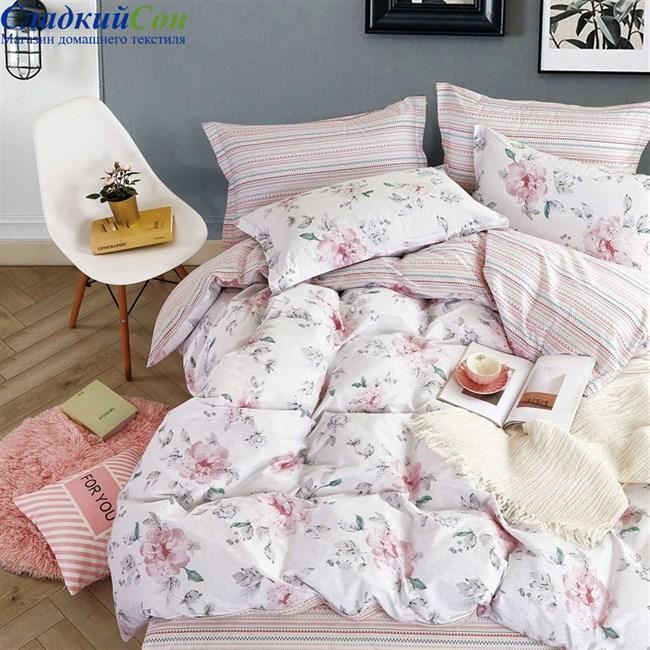 Комплект постельного белья Asabella 1277-4S 1,5-спальный белый - фото 84341