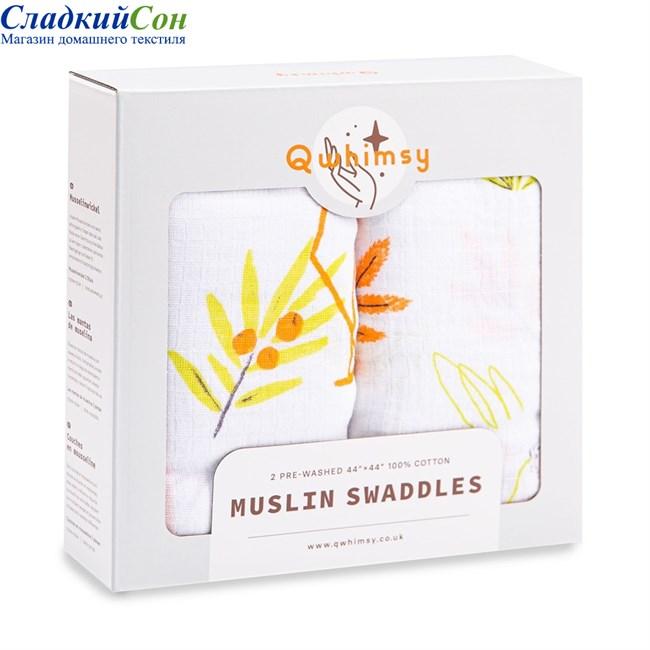 Набор муслиновых пеленок Qwhimsy Красная книга QSB014 2 шт. - фото 92951