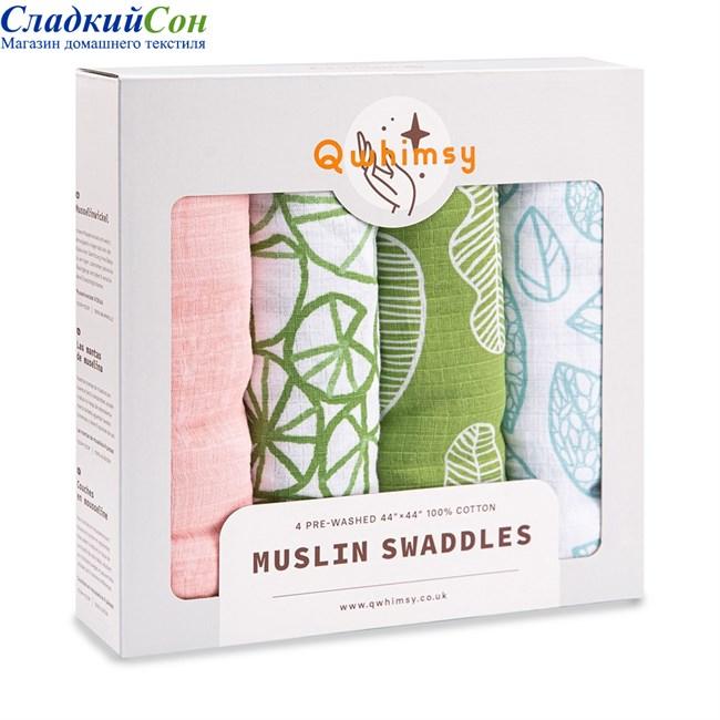 Набор муслиновых пеленок Qwhimsy Экология QSB006 4 шт. - фото 92990