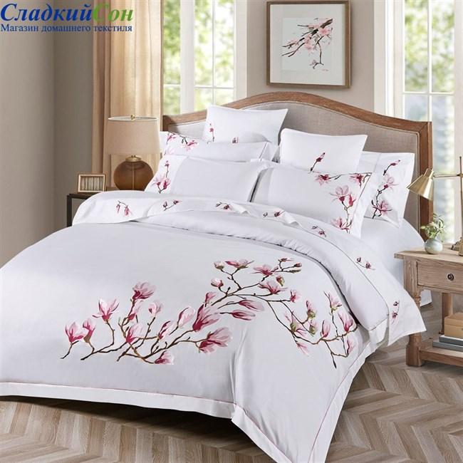Комплект постельного белья Asabella 475-4 Евро белый - фото 93651