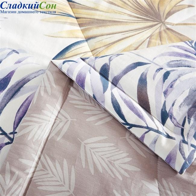 Шелковое одеяло Asabella 1389-OM 200*220 летнее / легкое серо-голубое - фото 93908