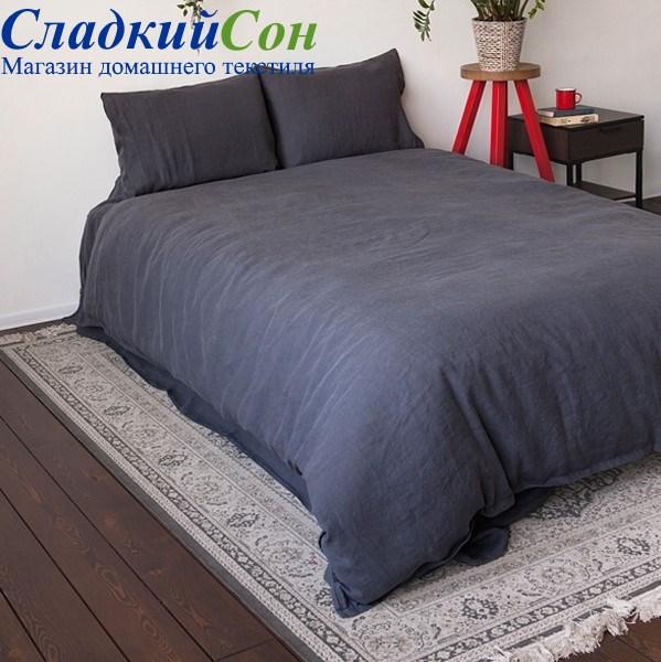 Комплект постельного белья Luxberry BEDROOM LINE Евро графитовый - фото 94088