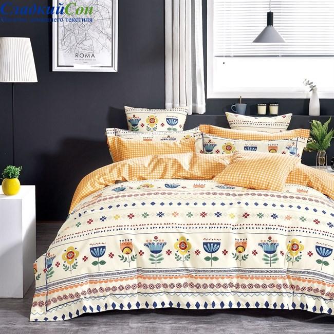 Комплект постельного белья Asabella 1473-4S 1,5-спальный мультитон - фото 95813