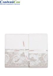 Полотенце FLOWERS luxberry 100% хлопок 550г/м2 50x100 белый/натуральный