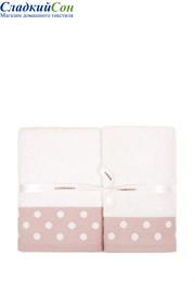 Полотенце PRETTY DOTS Luxberry 100% хлопок 550г/м2 70x140 белый/розовый
