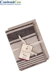 Комплект из 2-х полотенец CHEF ASSISTANT Luxberry 100% лён 2x(47x70) натуральный/черная полоса