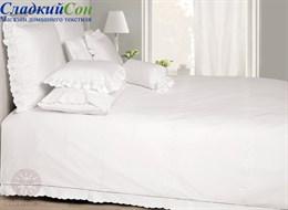 Комплект постельного белья Classic Bovi 100% хлопок перкаль белый