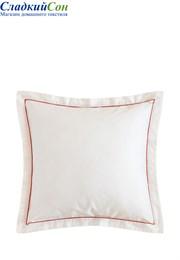 Наволочка с запахом HOTEL LUX-BOVI 50x70 100% хлопок сатин экрю/терракотовый