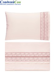 Комплект постельного белья OSAKA Bovi-06372 100% хлопок перкаль нежно-розовый