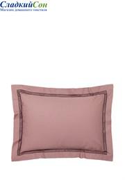 Наволочка с запахом АКЦЕНТ BOVI 70x70 100% хлопок перкаль карминово-розовый